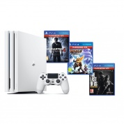 Sony PlayStation 4 PRO 1 Tb White + Uncharted 4 + Ratchet & Clank + The Last of Us Remastered