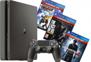Sony PlayStation 4 Slim 1Tb + Uncharted 4 + Ratchet & Clank + The Last of Us Remastered