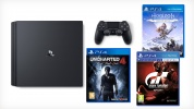 Sony PlayStation 4 PRO 1 Tb Black + Uncharted 4 + Gran Turismo Sport + Horizon Zero Dawn