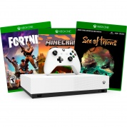 XBOX One S All-Digital Edition 1Tb + Minecraft + Sea of Thieves + Fortnite