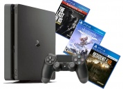 Sony PlayStation 4 Slim 1 TB Black + Horizon Zero Dawn + Одни из нас + Resident Evil Biohazard